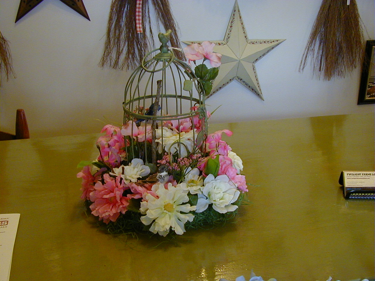 Small Bird Cage Arrangement