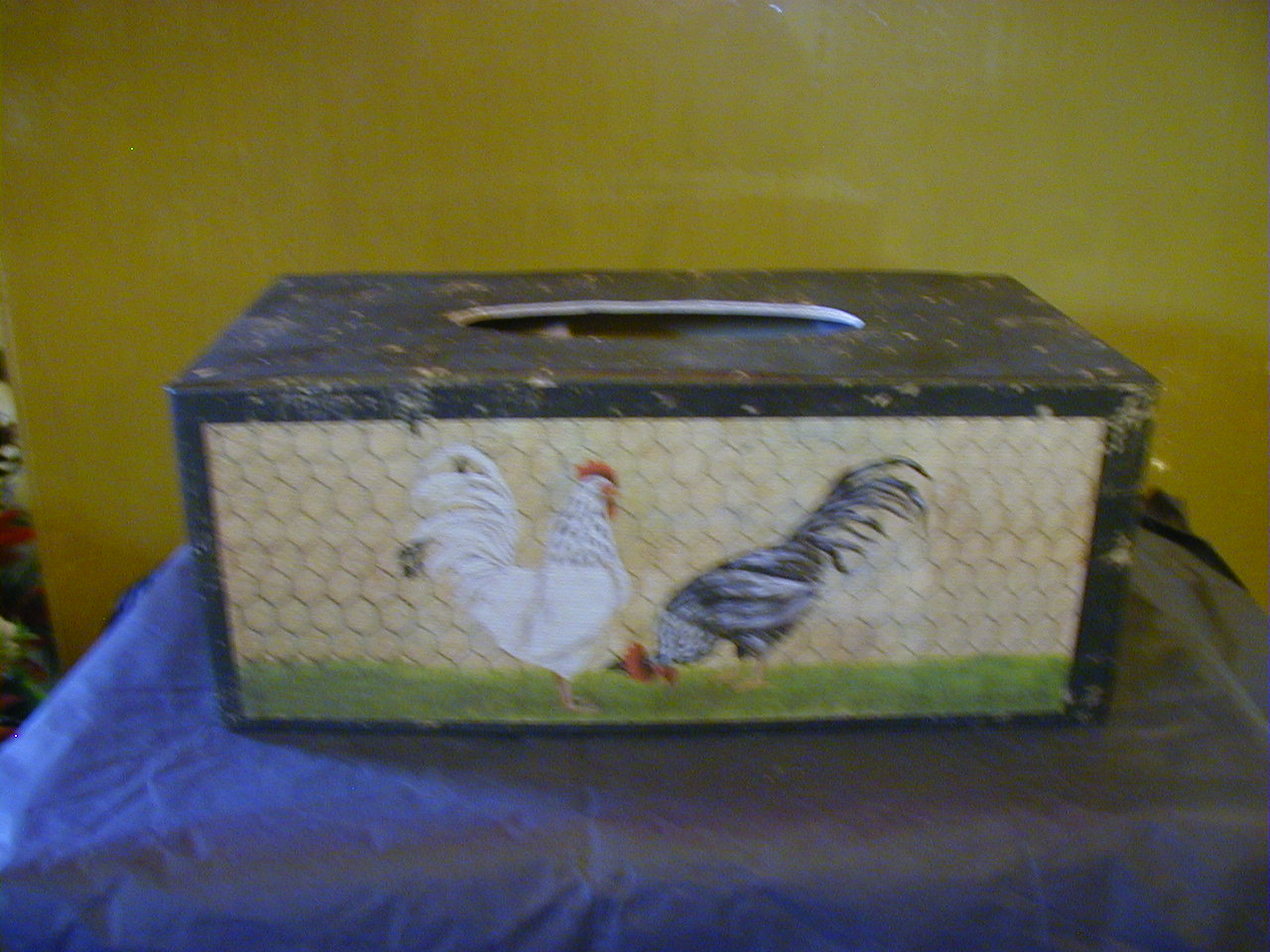 Rooster Tissue Box
